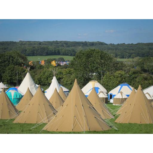 Kingdom - 5m Tipi Tent - Furnished